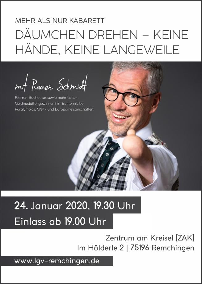 Rainer Schmidt | Däumchen drehen – keine Hände
