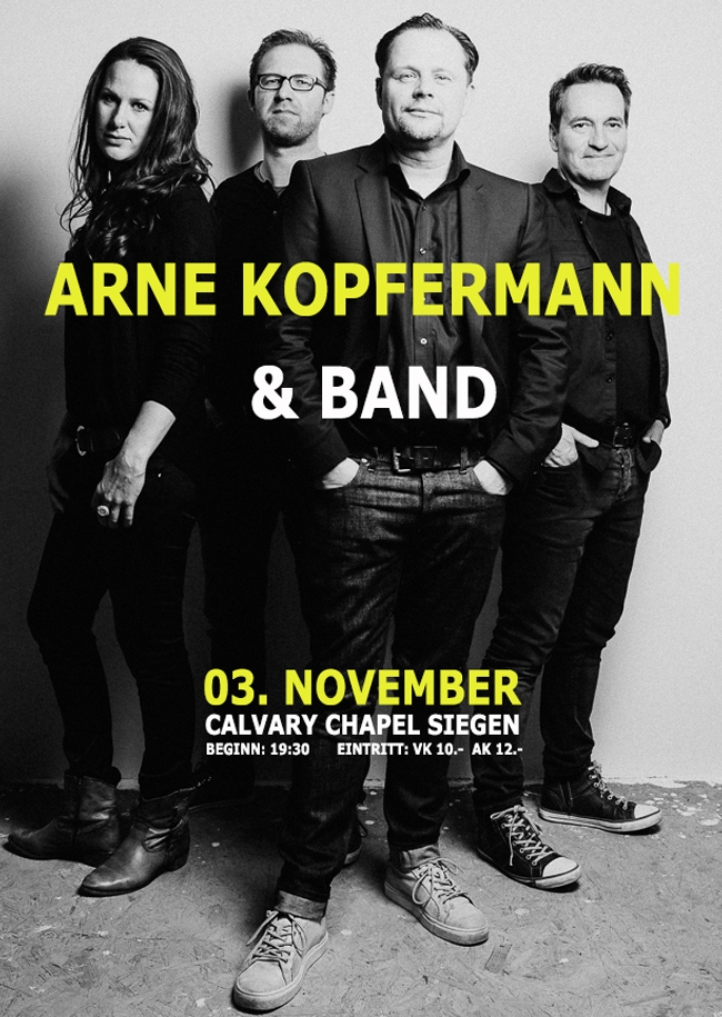 Konzertlesung mit Arne Kopfermann und Band