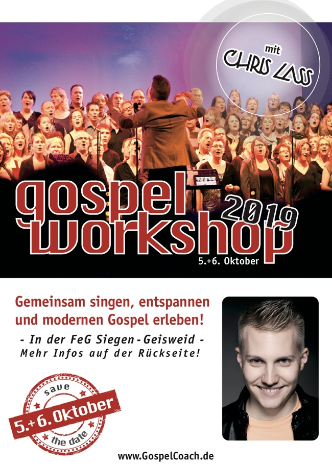 Gospelworkshop mit Chris Lass