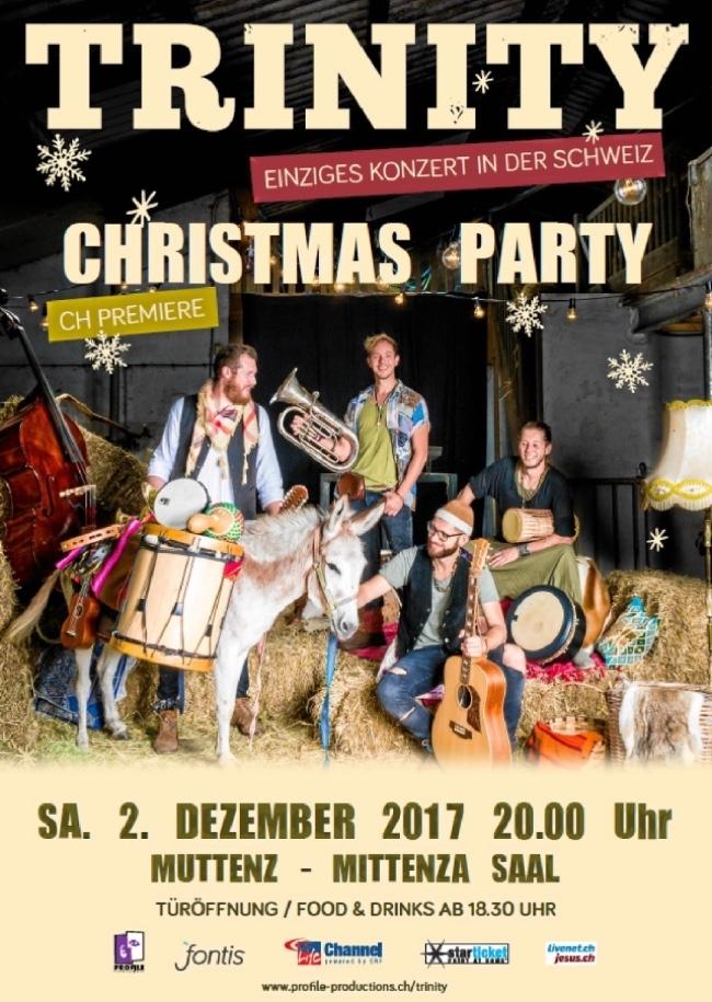 TRINITY - Christmas Party - Einziges Konzert in der Schweiz!