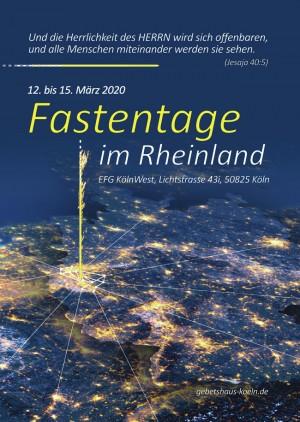 Fastentage im Rheinland 2020