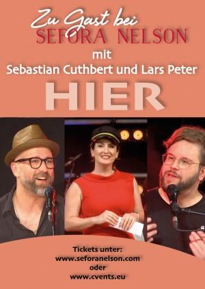 Zu Gast bei Sefora Nelson: Sebastian Cuthbert und Lars Peter