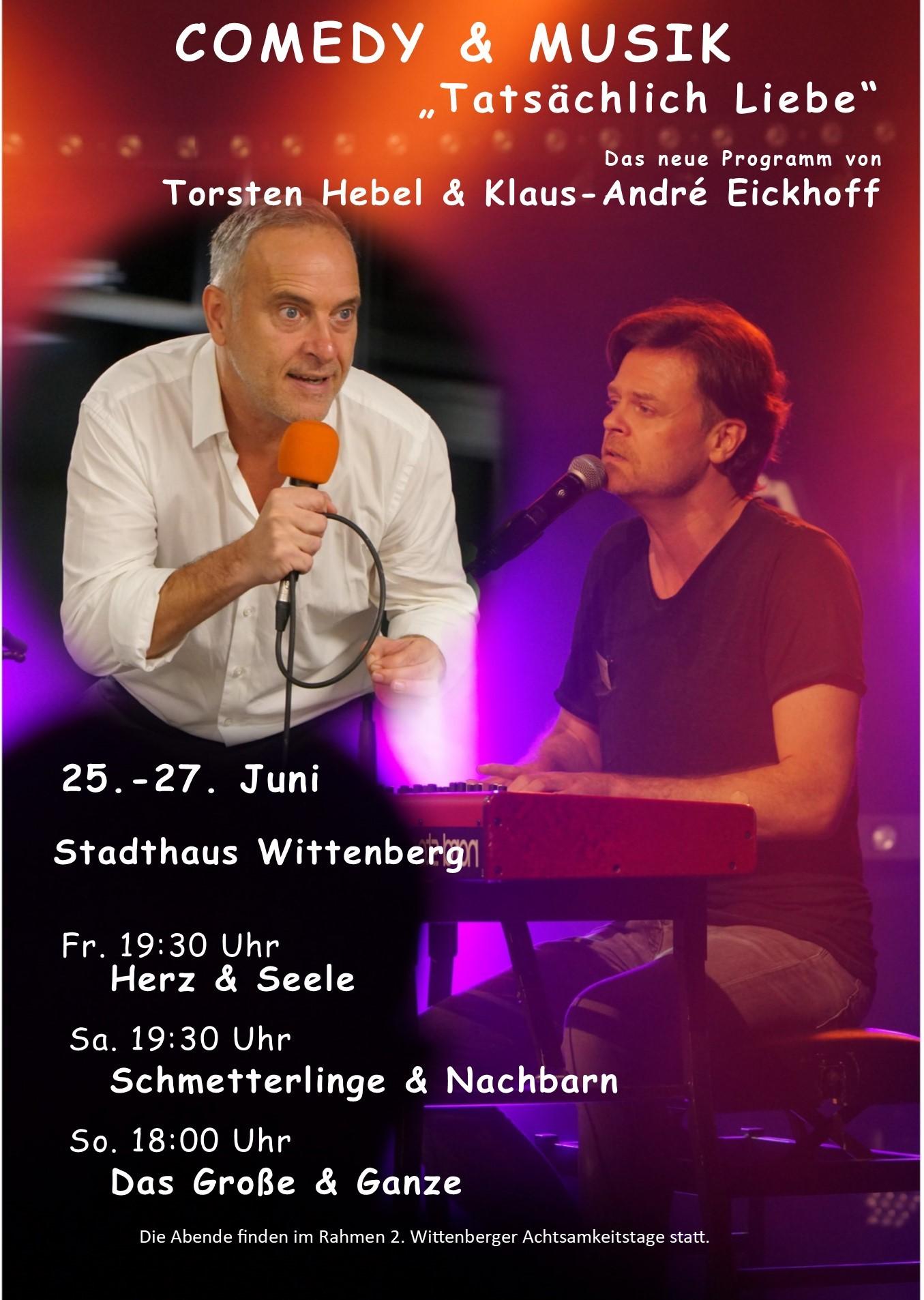 """Comedy & Musik """"Tatsächlich Liebe"""" - Alle drei"""