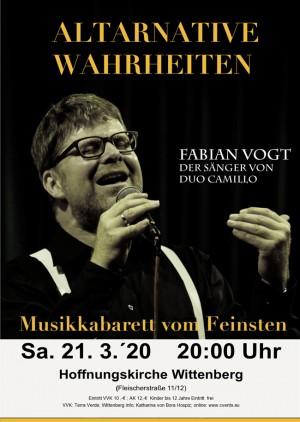 """Fabian Vogt von Duo Camillo  """"Altarnative Wahrheiten"""""""
