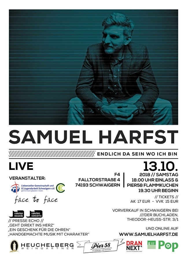 Samuel Harfst - Endlich da sein, wo ich bin Tour