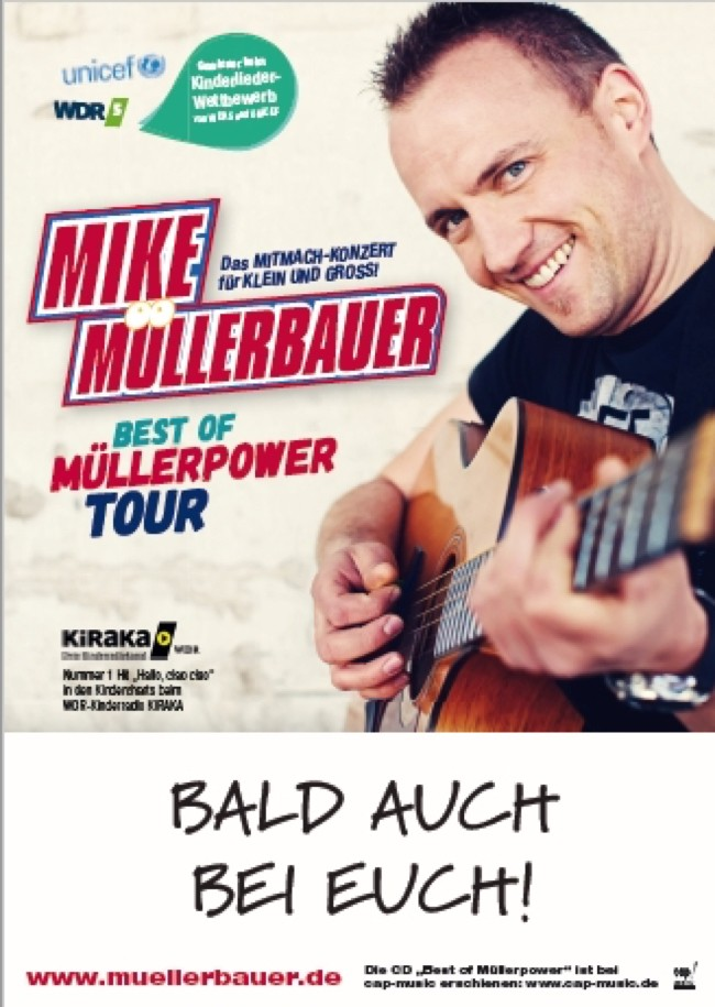 Mike Müllerbauer Konzert um 15.00 Uhr