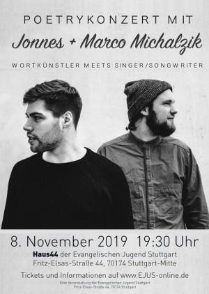 Poetry-Konzert mit Marco Michalzik & JONNES