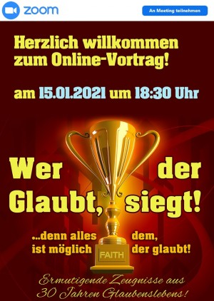"""Online Vortrag """"Wer glaubt, der siegt!"""""""