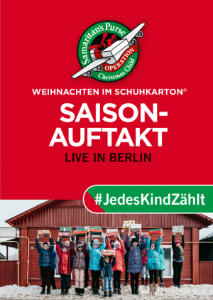 """Saisonauftakt """"Weihnachten im Schuhkarton"""""""