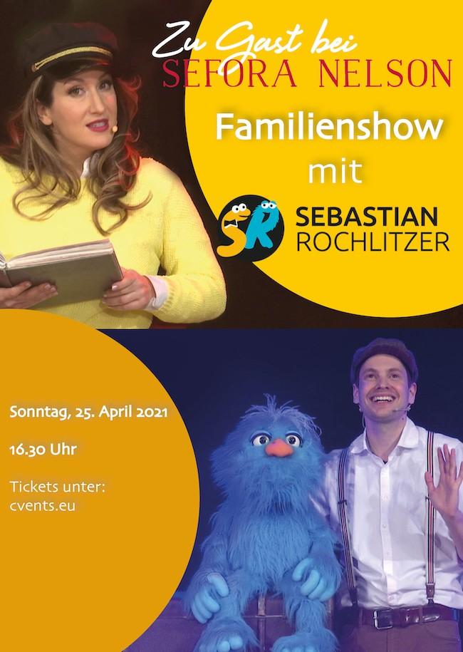 Zu Gast bei Sefora Nelson: Familienshow mit Sebastian Rochlitzer