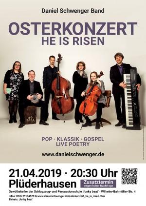 Zusatztermin: Osterkonzert / Daniel Schwenger Band