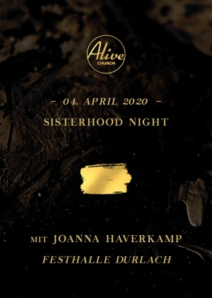 Sisterhood Night Karlsruhe mit Joanna Haverkamp