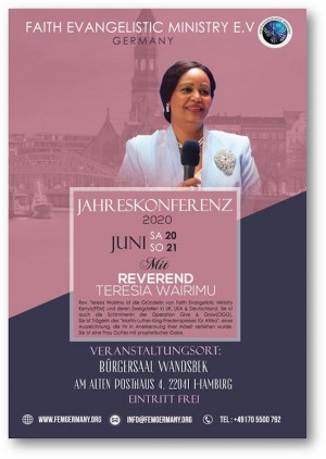 Jahreskonferenz 2020 mit Rev. Teresia Wairimu