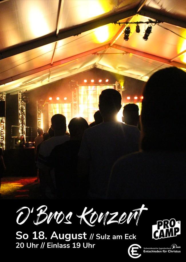 O'Bros Konzert auf dem ProCamp