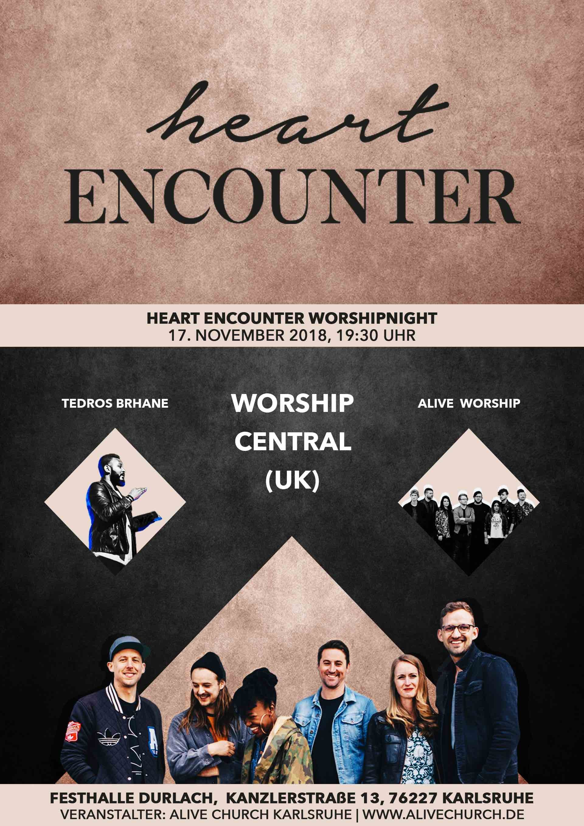 Heart Encounter - Worshipnight mit Worship Central (UK)