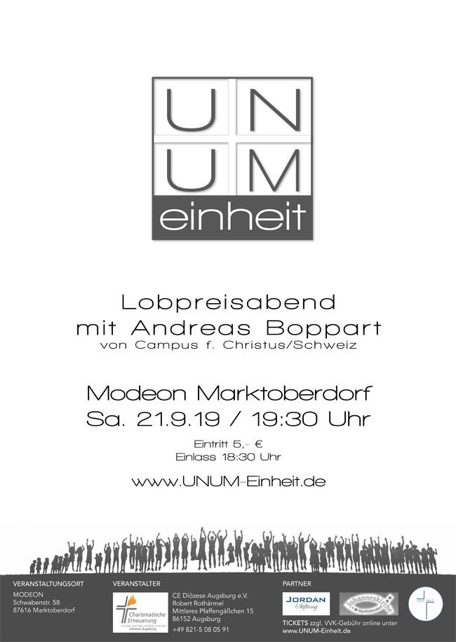 UNUM - EINHEIT - Lobpreisabend mit Andreas Boppart von Campus für Christus / Schweiz