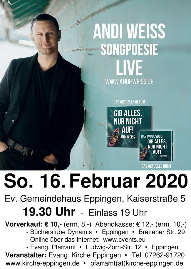 Konzert mit Andi Weiss
