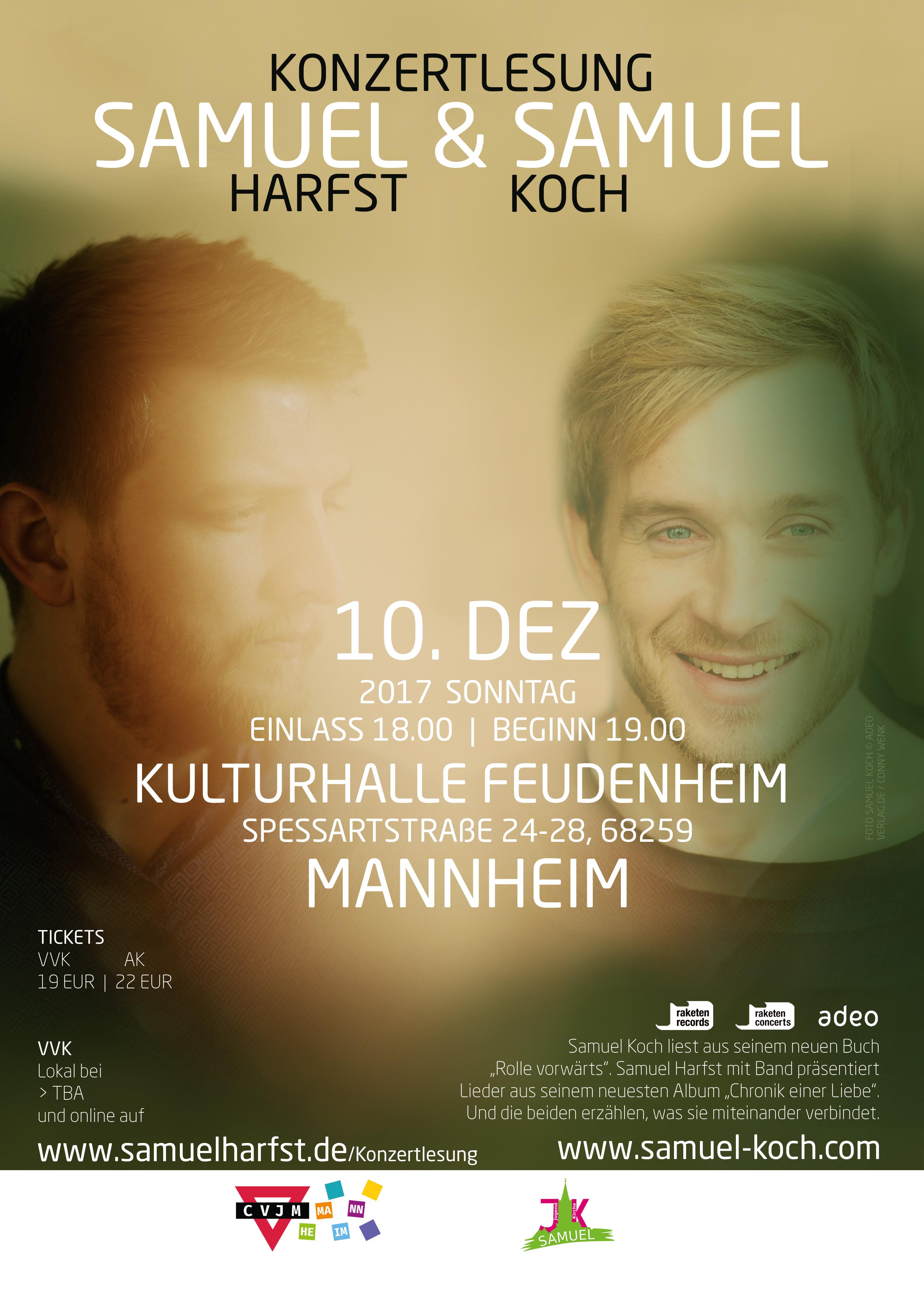 Konzertlesung Samuel Harfst & Samuel Koch MANNHEIM