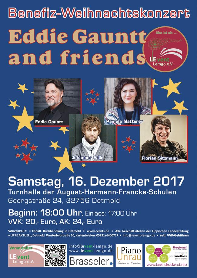 Weihnachtskonzert mit Eddie Gauntt and friends
